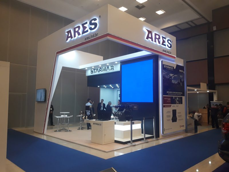 montagem stand ares