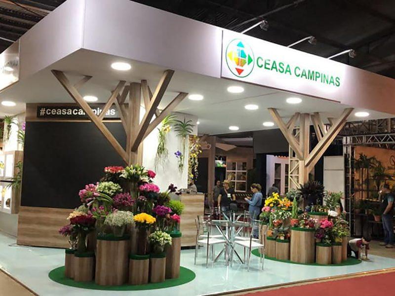MONTAGEM STAND CEASA CAMPINAS - ENFLOR HOLAMBRA