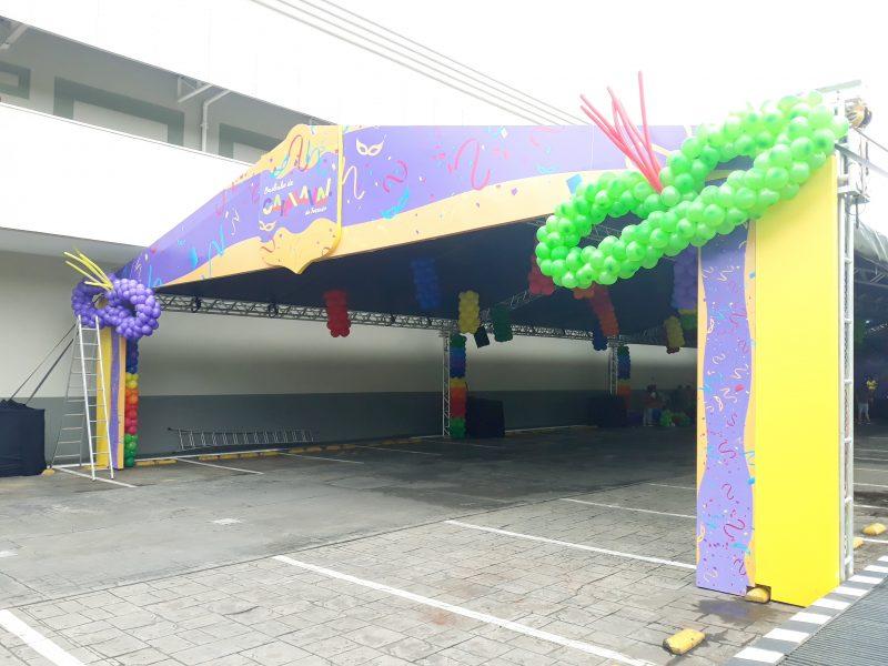 Quiosque Fachada Carnaval - Terraço Shopping