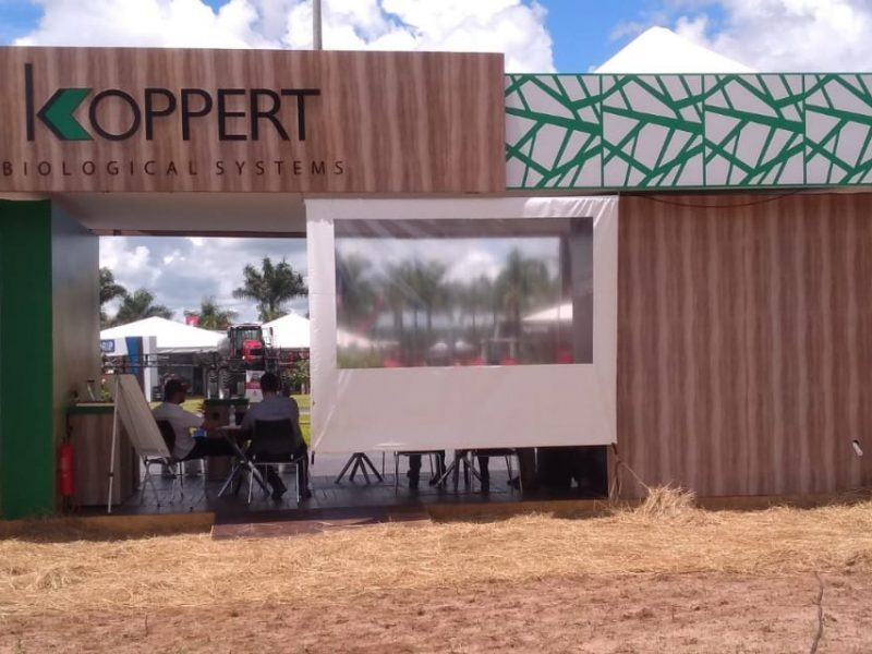Estande Frontal Koppert - Agro Rosário - 2020